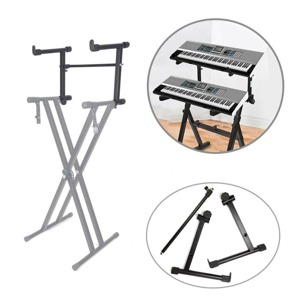 keyboard-accessories Adjustable Black Single Tube Heightening Electronic Piano Stand Keyboard instrument Support Holder Parts Accessoreis HOB1683868