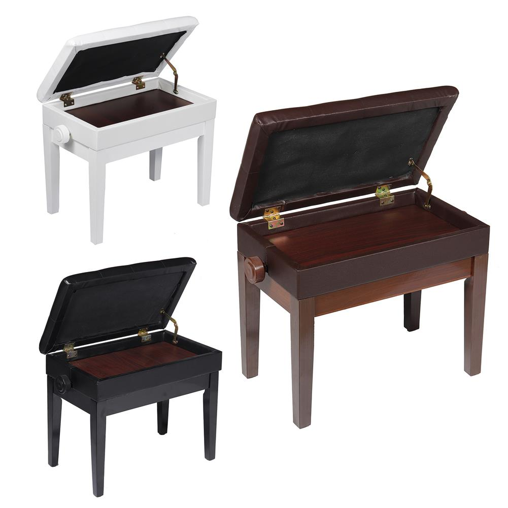 keyboard-accessories Single lift solid wood piano stool child adjustable height stool Guzheng bench HOB1683959 1