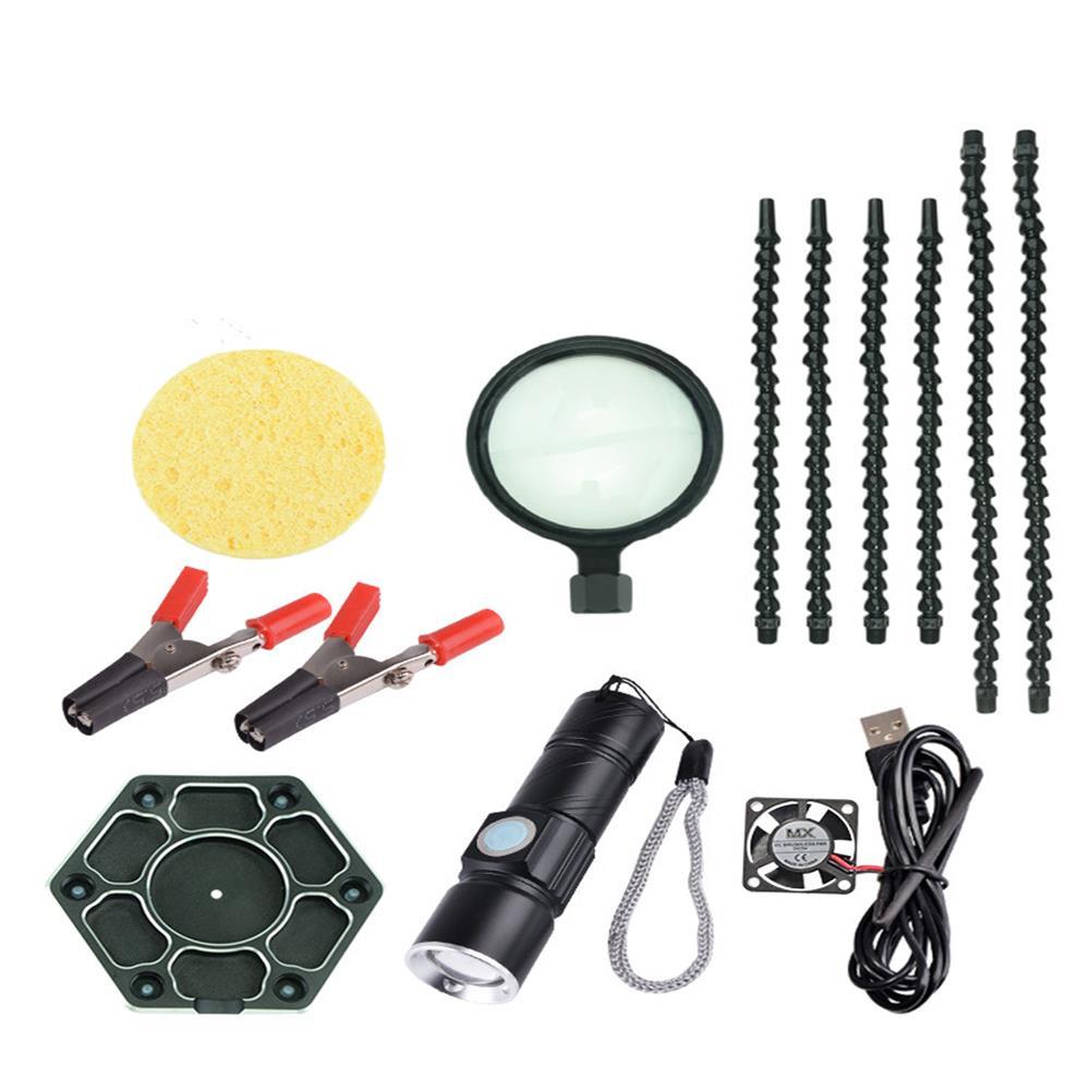 tools-bags-storage HJ FPV Universal Arm PCB Welding Auxiliary Tool Soldering Tool Set HOB1683965 2