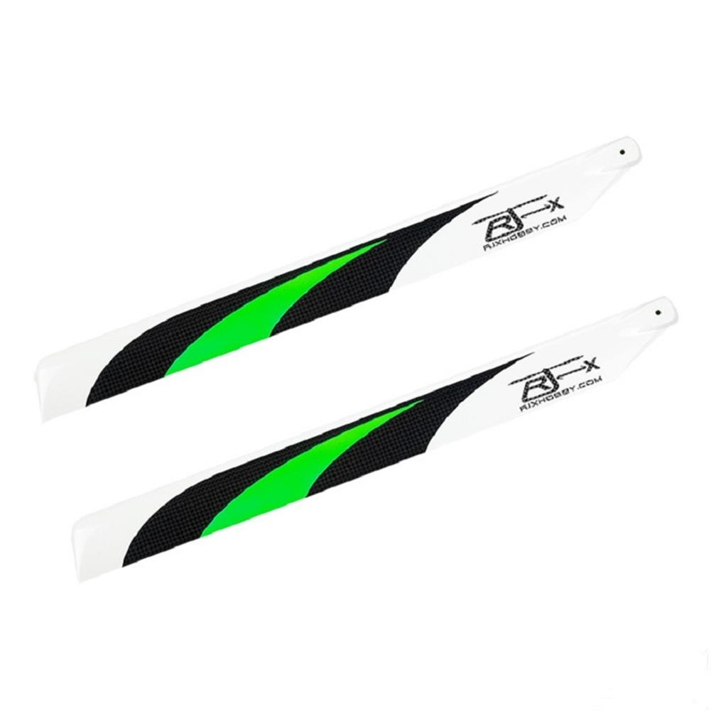 rc-helicopter-parts 1 Pair RJX 430mm Carbon Fiber Main Blades for T-rex 500 Class 500 RC Helicopter HOB1683969