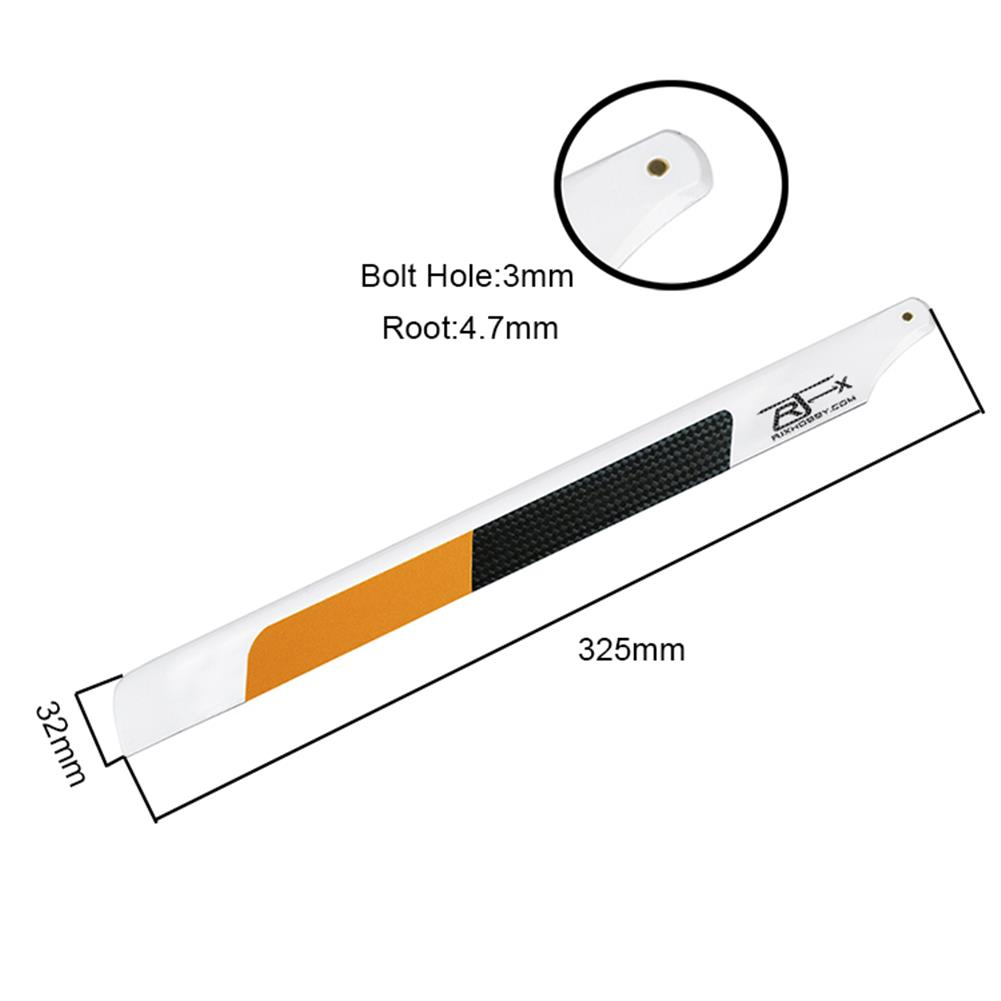 rc-helicopter-parts 1 Pair RJX 325mm Carbon Fiber Main Blade FBL Version for 450 RC Helicopter HOB1683971 1