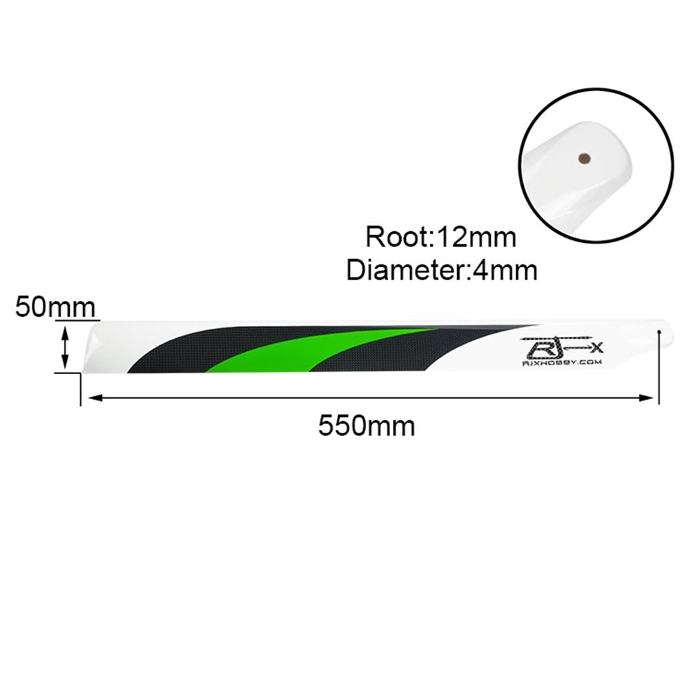 rc-helicopter-parts 1 Pair RJX 550mm Carbon Fiber Main Blade FBL Version for T-rex 550 Gaui X5 KDS Agile 5.5 Class 550 RC Helicopter HOB1683972 1