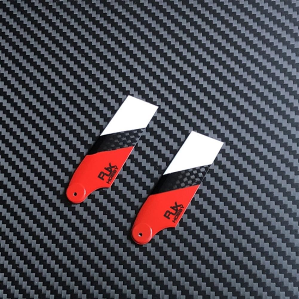 rc-helicopter-parts 1 Pair RJX 62mm Carbon Fiber Tail Rotor Blades for 450 RC Helicopter HOB1684259 2