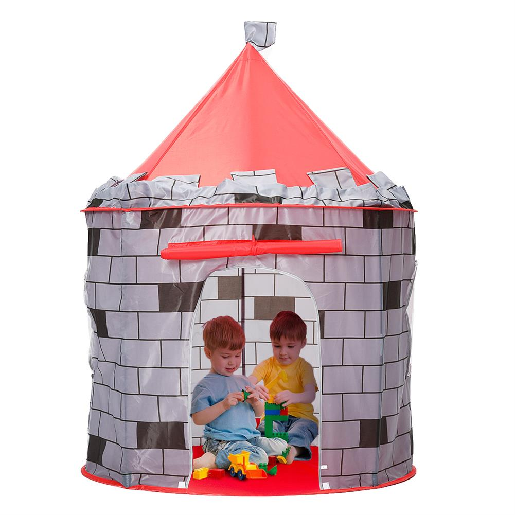 puzzle-game-toys Knight themed Folding Castle Pops Up 10t Play Toys for Kids indoor Outdoor Playhouse Gift HOB1684618