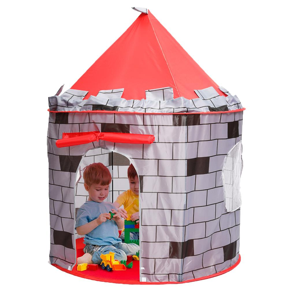 puzzle-game-toys Knight themed Folding Castle Pops Up 10t Play Toys for Kids indoor Outdoor Playhouse Gift HOB1684618 1