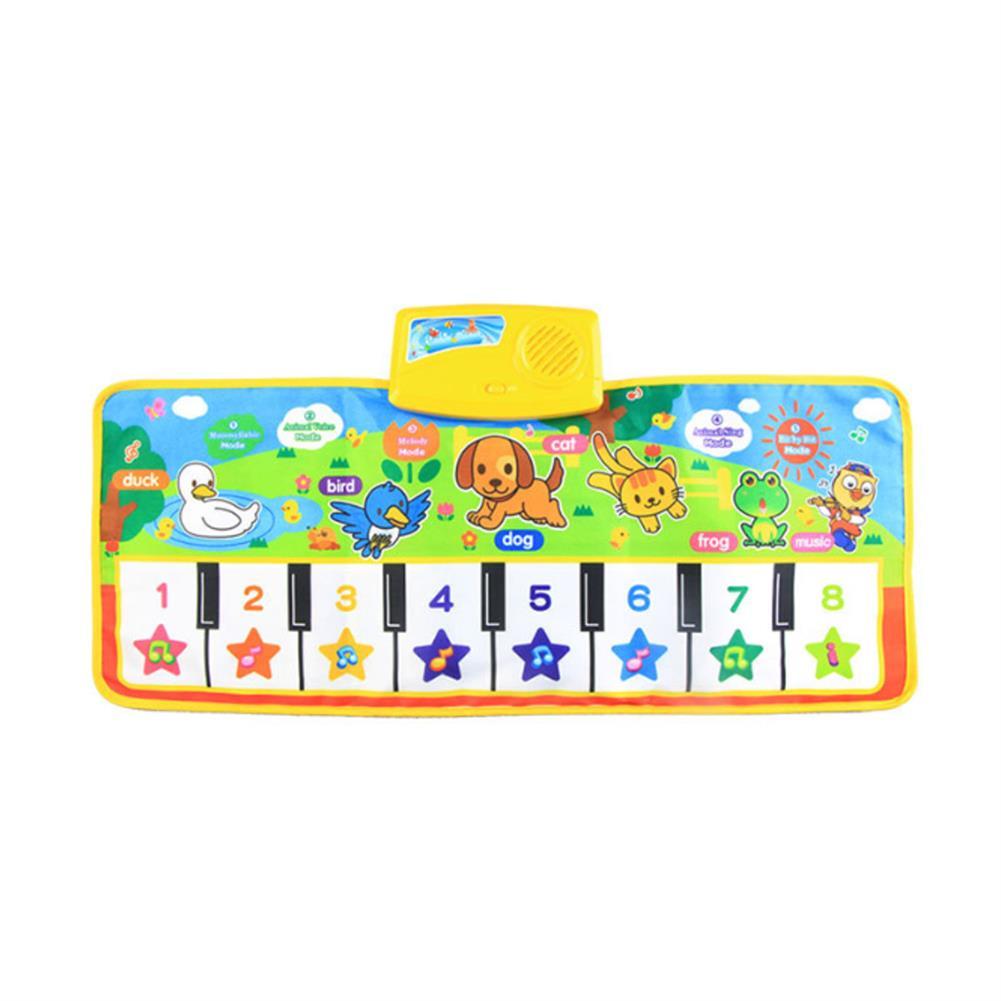 roll-up-piano Musical Kid Piano Baby Crawl Mat Animal Educational Music Soft Kick Toy 5 Modes HOB1685121