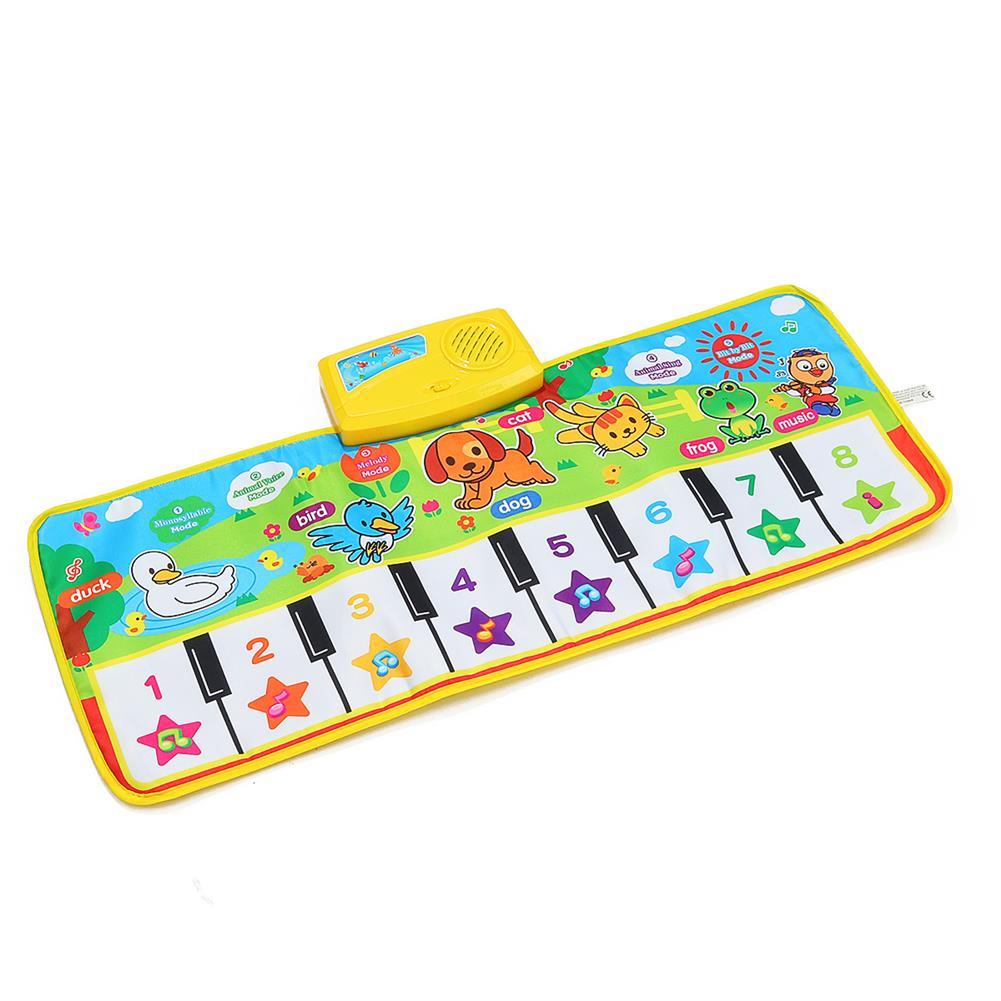 roll-up-piano Musical Kid Piano Baby Crawl Mat Animal Educational Music Soft Kick Toy 5 Modes HOB1685121 2
