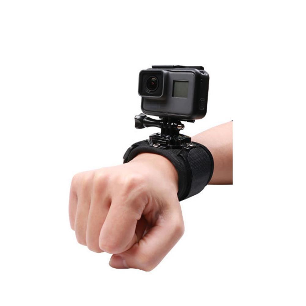 fpv-system Hand Strap 360 Degree Panoramic Camera Mount Black Wrist Strap for Gopro Hero 8 7 6 3 4 Xiaomi SJCAM EKEN Action Cameras Accessories Non-original HOB1685248