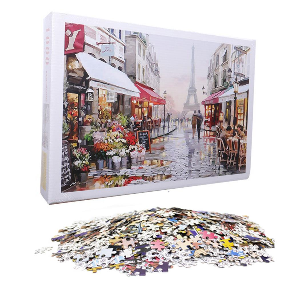 puzzle-game-toys 1000 Pieces Jigsaw Puzzle Toy DIY Assembly Paper Puzzle Beautiful Building Landscape Educational Toy HOB1685521