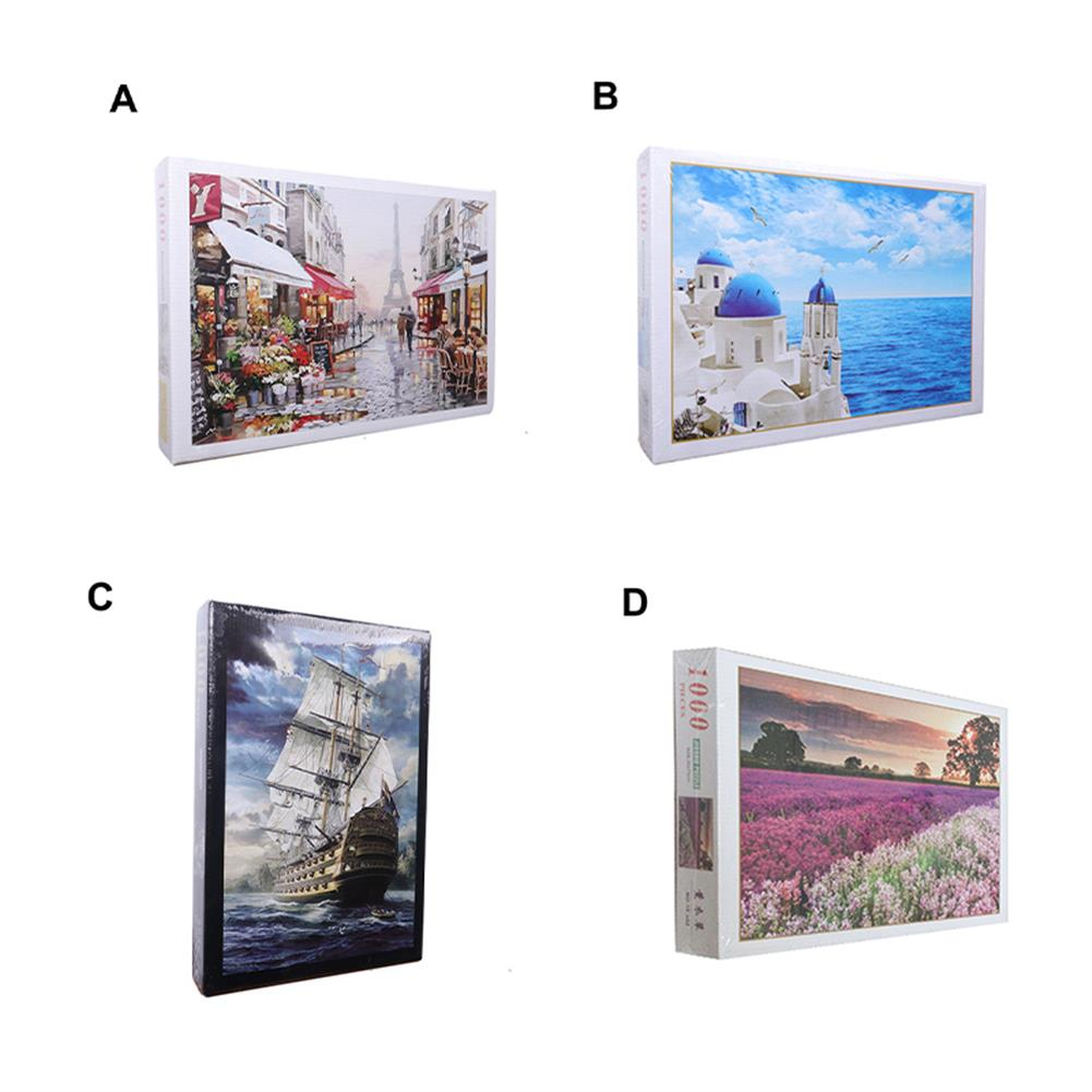 puzzle-game-toys 1000 Pieces Jigsaw Puzzle Toy DIY Assembly Paper Puzzle Beautiful Building Landscape Educational Toy HOB1685521 1