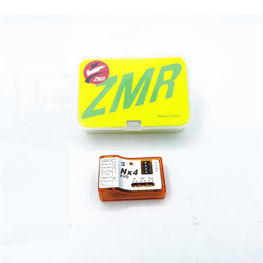 rc-airplane-parts ZMR NX4-EVO 6-Axis 3D Flight Controller Gyroscope Stabilizer one Key Rescue Autobalance FC for RC Airplane Aircraft Fixed Wing V-tail HOB1686310 1