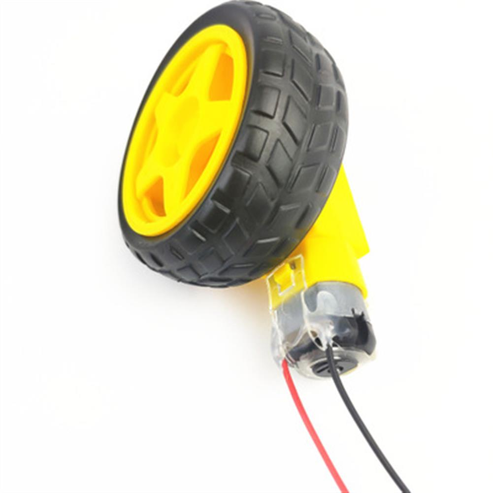 rc-helicopter-parts Small Hammer TT DC Motor with Wheel 10cm Male Plug Cable for DIY RC Robot Car HOB1686505
