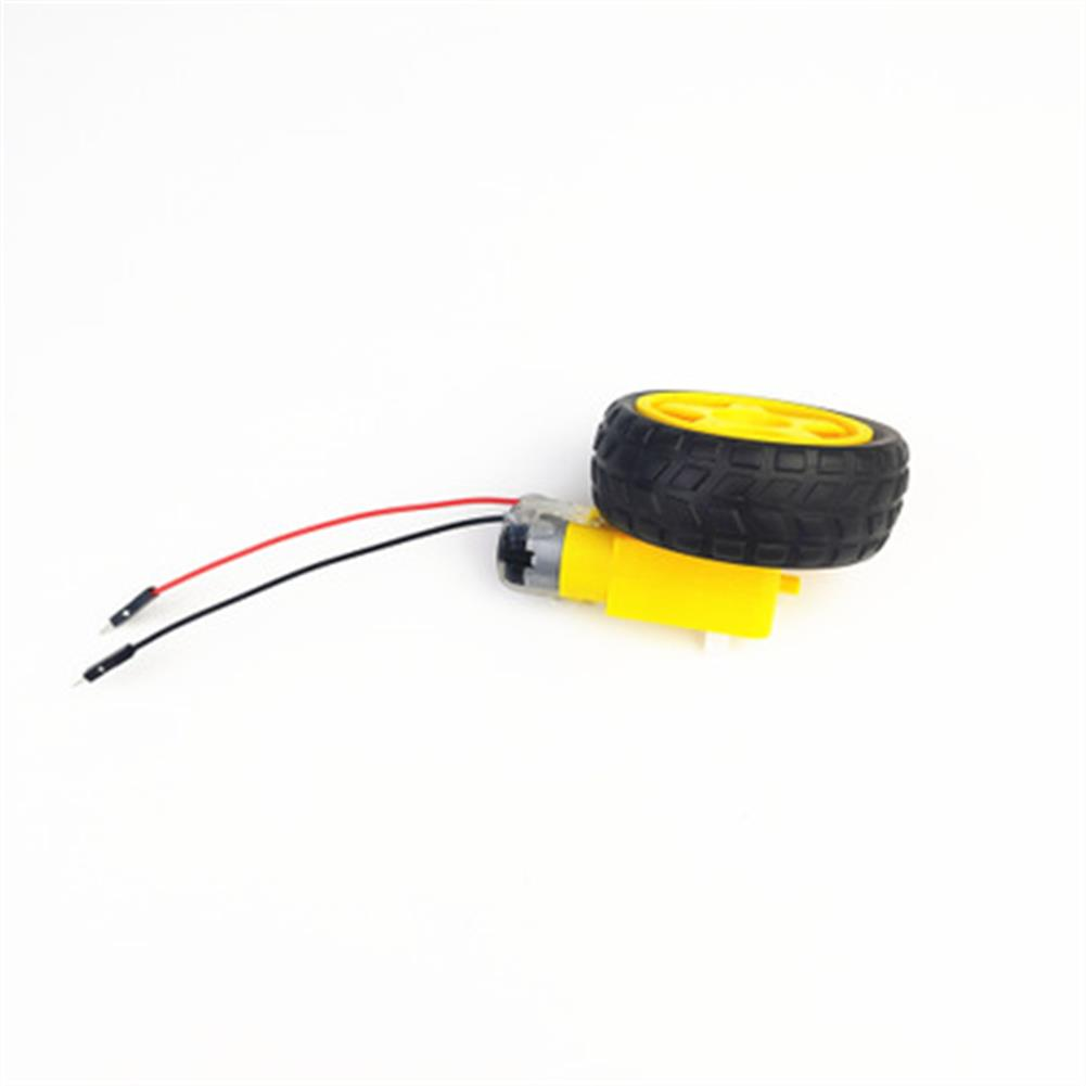 rc-helicopter-parts Small Hammer TT DC Motor with Wheel 10cm Male Plug Cable for DIY RC Robot Car HOB1686505 1