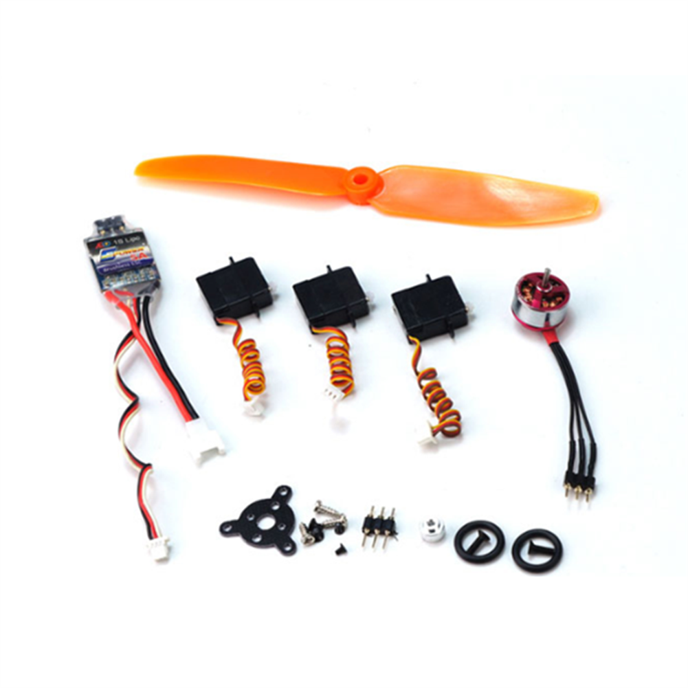 rc-airplane-parts Power Pack+Battery+Battery Charger+S-FHSS Receiver Combo T34 Spare Part Combo Micro RC Balsa Wood Laser Cut Building Kit for K13 Ultra-micro Balsawood RC Airplane Space Walker HOB1686764