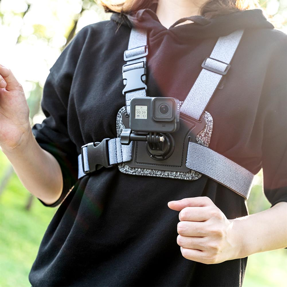 fpv-system Telesin Double Position Shooting Chest Strap Fixed Mount for GoPro Xiaomi Yi DJI OSMO Action Pocket Gimbal Camera Accessories Non-original HOB1687687 1
