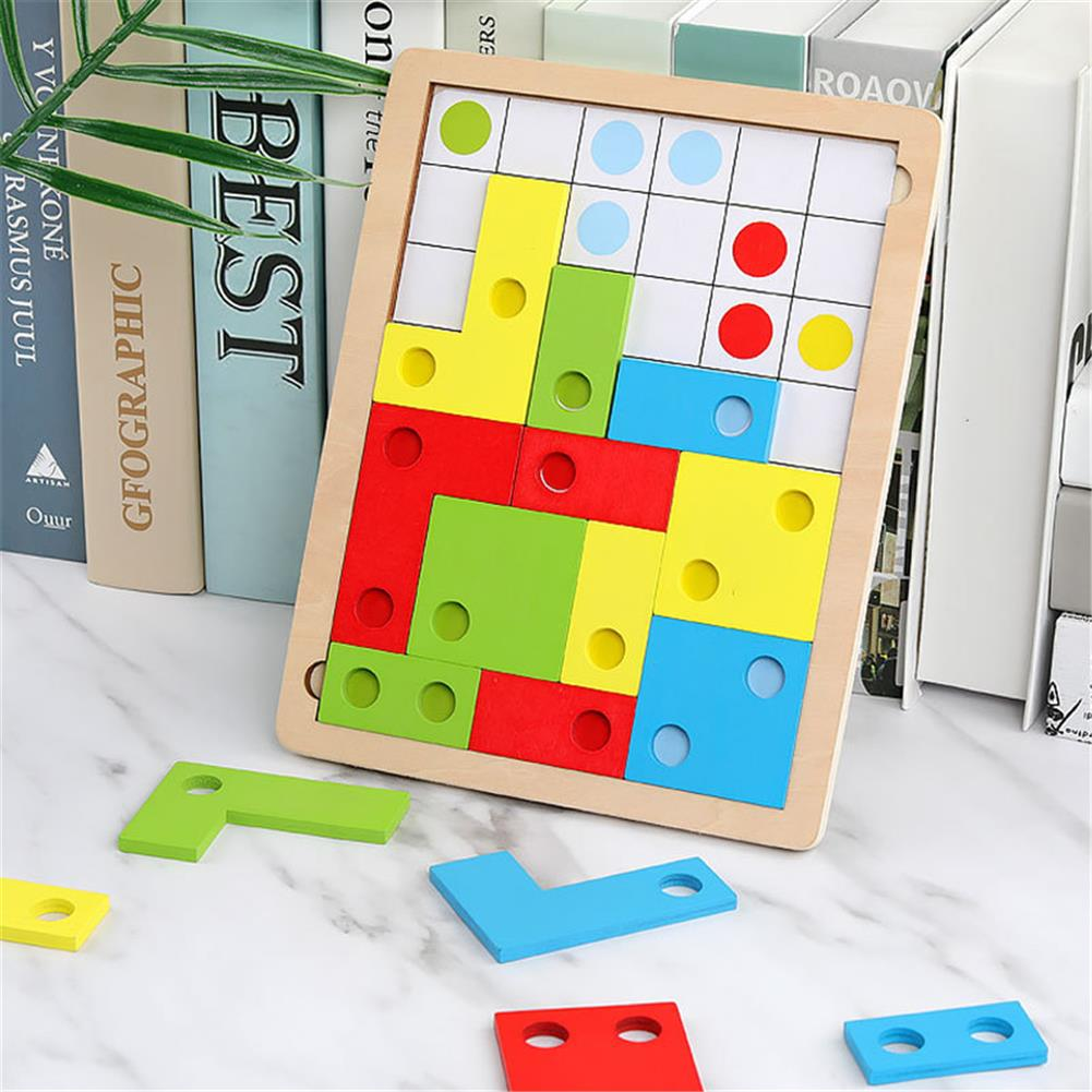 puzzle-game-toys Tetris Brain 3D Puzzle Blocks Early Educational intelligence Development Toys for Children's Gift HOB1688419 1