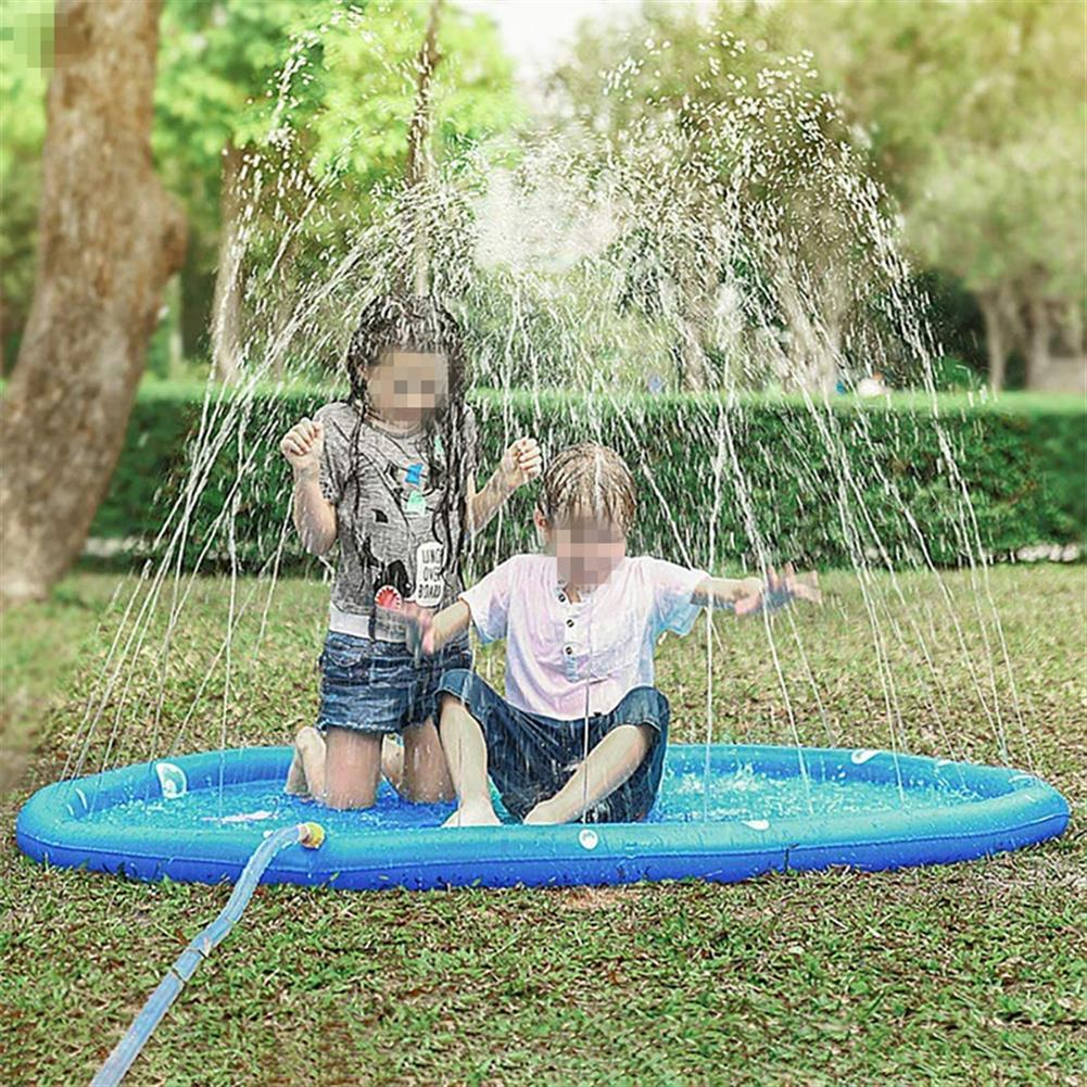 inflatable-toys 170cm Blue Dinosaur Round Edge inflatable Water Pad Water Outdoor Toys HOB1688901