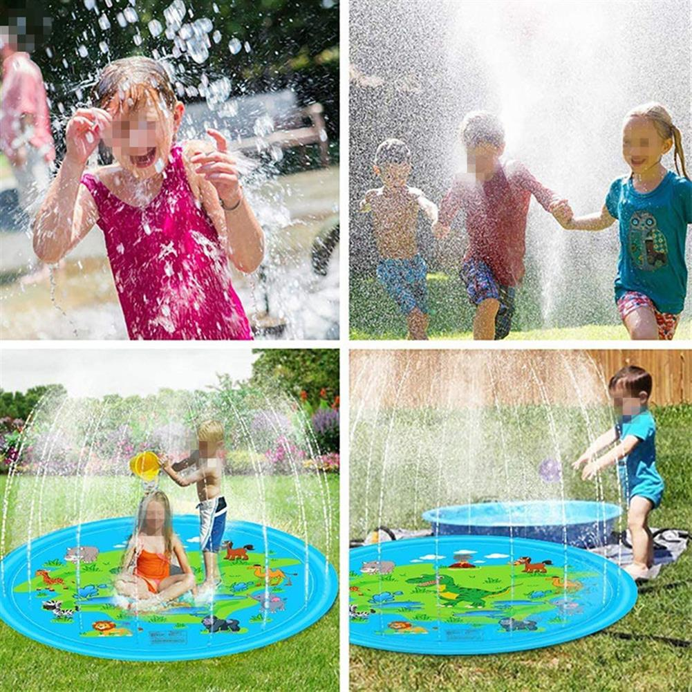 inflatable-toys 170cm Blue Dinosaur Round Edge inflatable Water Pad Water Outdoor Toys HOB1688901 1