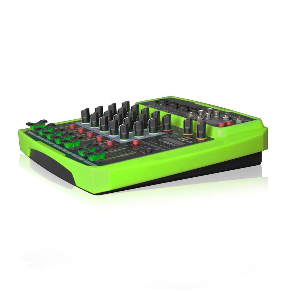 dj-mixers-equipment WENYANWEN Mini 4 Channel 16 DSP Effect USB Delay and Repeat Efferts Audio Mixer Console with Channel Volume Contrl HOB1688964 3