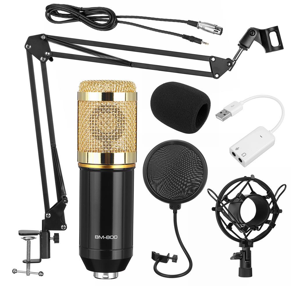 microphones-karaoke-equipment BM800 Pro Condenser Microphone Kit Studio Suspension Boom Scissor Arm Stand with Fliter HOB1688965