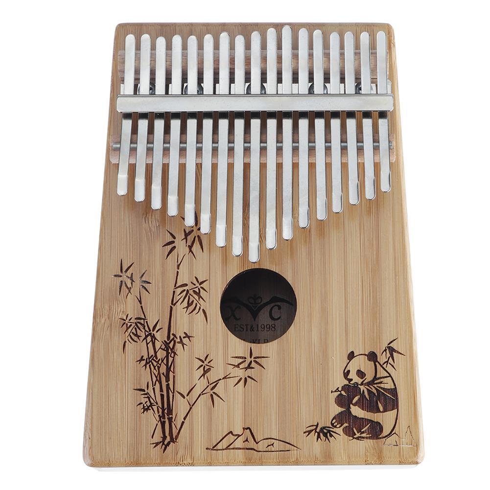 kalimba 17-Key Kalimba Bamboo Thumb Piano Marimbas Finger instrument and Complete Accessories Learning Book Tuning Hammer HOB1689122