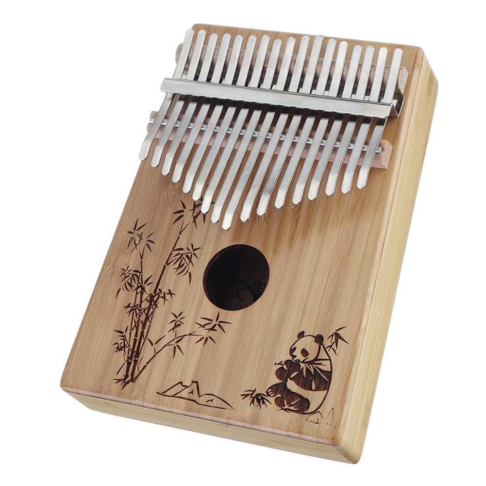 kalimba 17-Key Kalimba Bamboo Thumb Piano Marimbas Finger instrument and Complete Accessories Learning Book Tuning Hammer HOB1689122 1