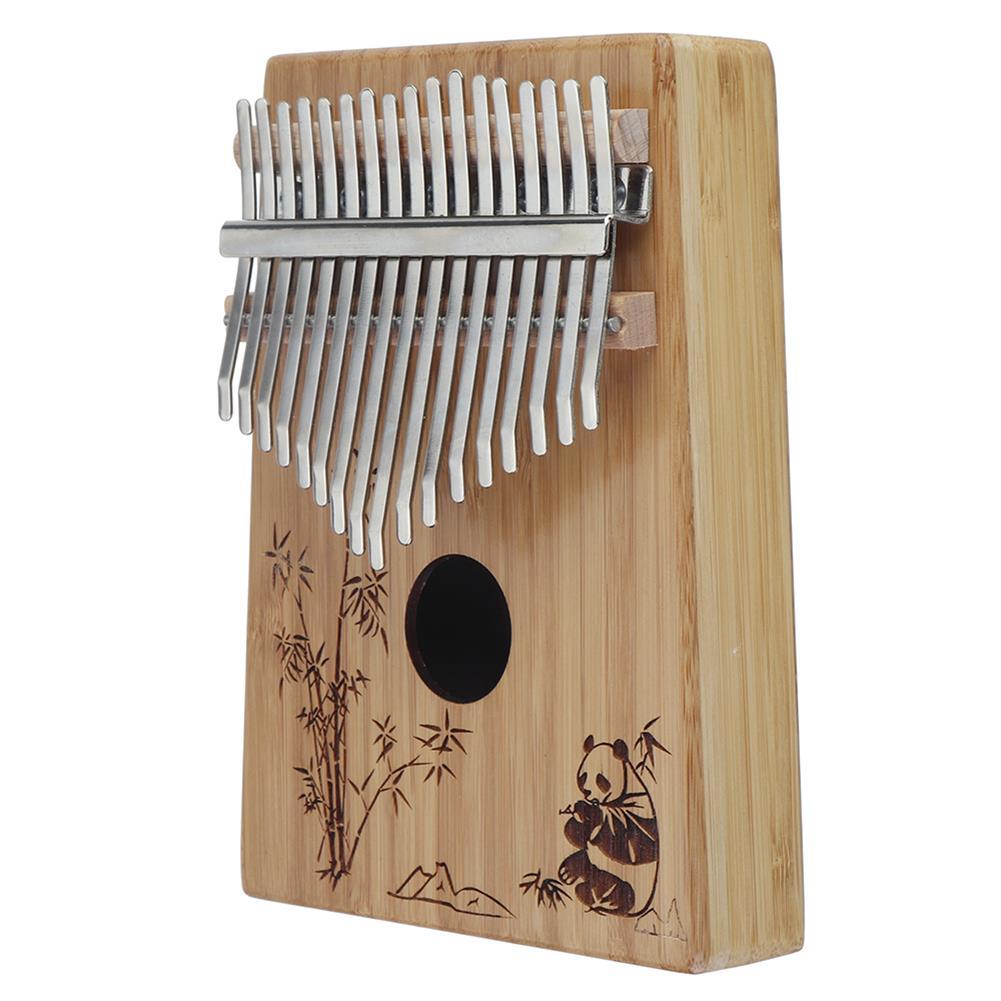 kalimba 17-Key Kalimba Bamboo Thumb Piano Marimbas Finger instrument and Complete Accessories Learning Book Tuning Hammer HOB1689122 2
