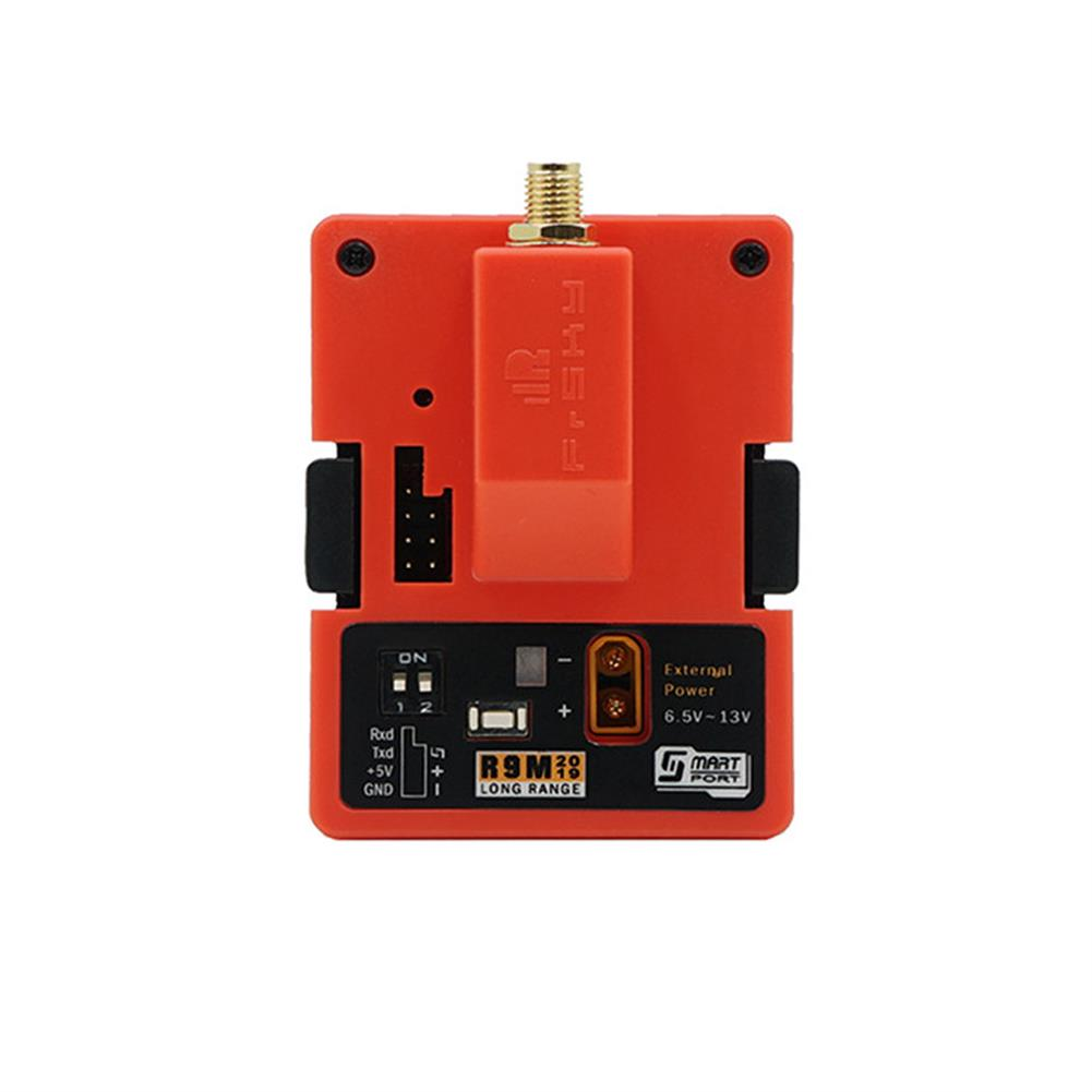 radios-receiver FrSky R9M 2019 900MHz Long Range Transmitter Module and R9 Slim+ OTA ACCESS RC Receiver with Mounted Super 8 and T antenna HOB1689401 1