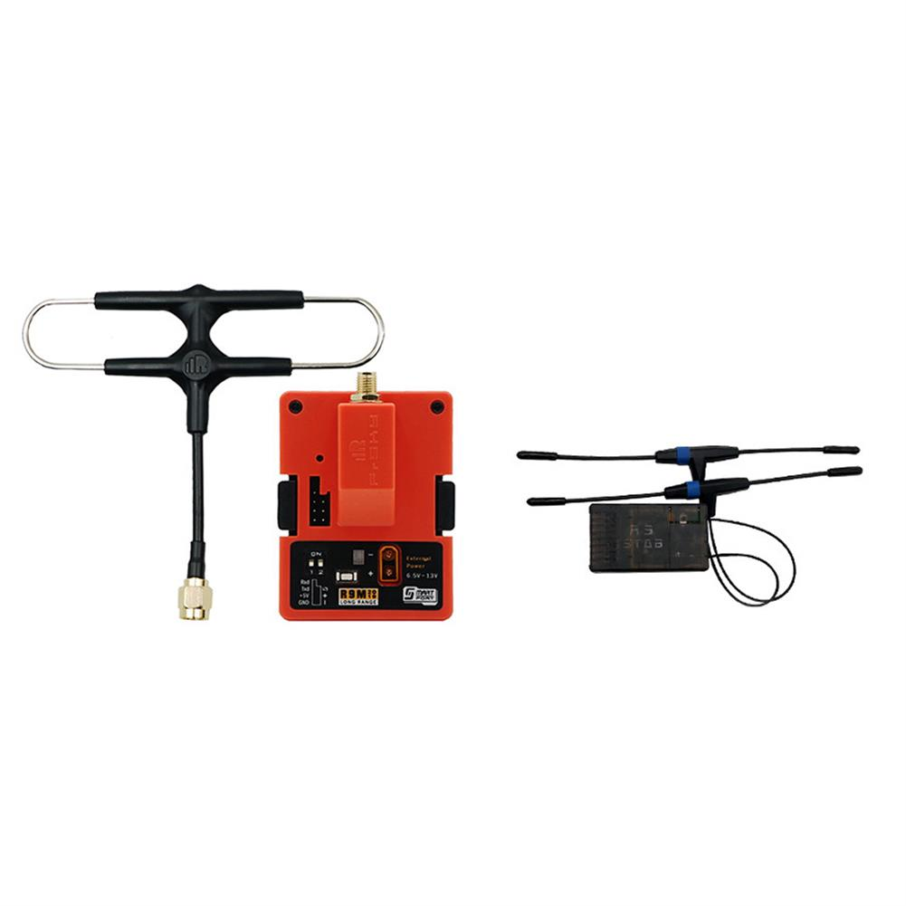 radios-receiver FrSky R9M 2019 900MHz Long Range Transmitter Module and R9 STAB OTA ACCESS RC Receiver with Mounted Super 8 and T antenna HOB1689729