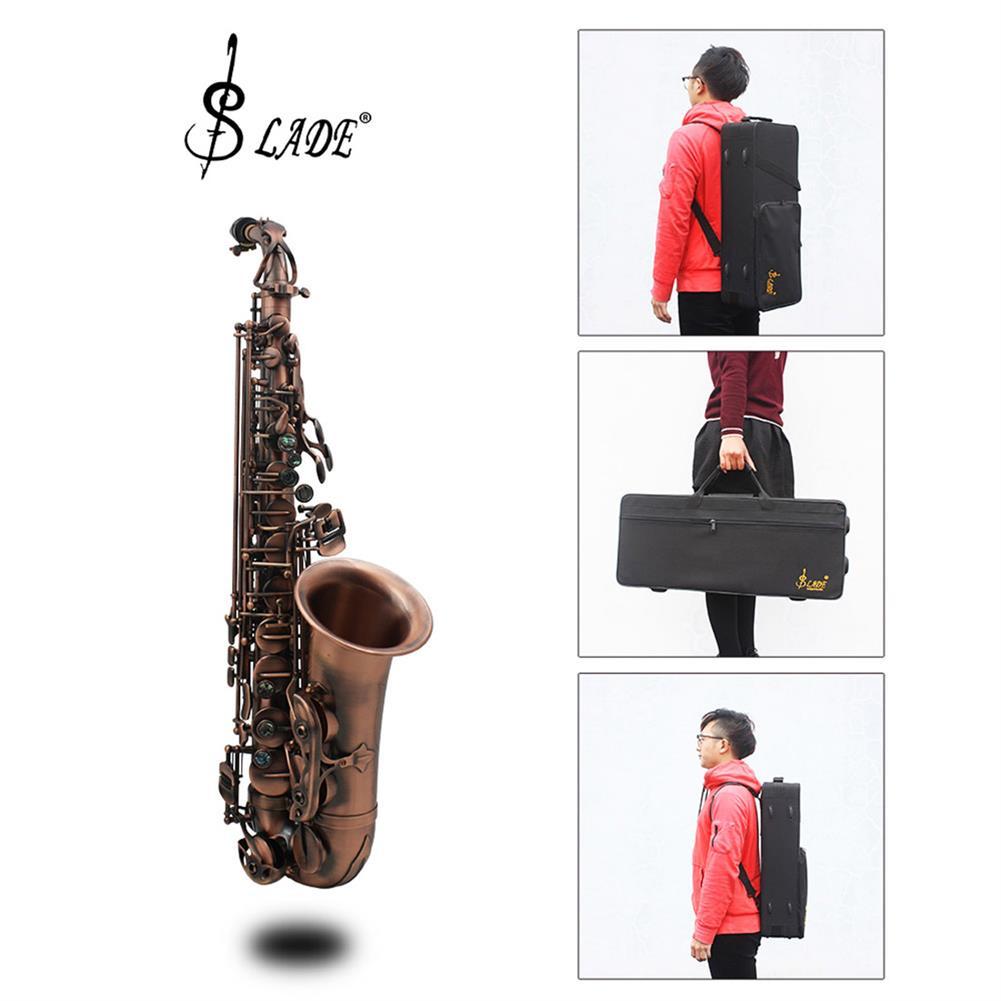 saxophone Slade Red Bronze Bend Eb E-flat Alto Saxophone Sax Abalone Shell Key Carve Pattern with Case Gloves HOB1690219 1