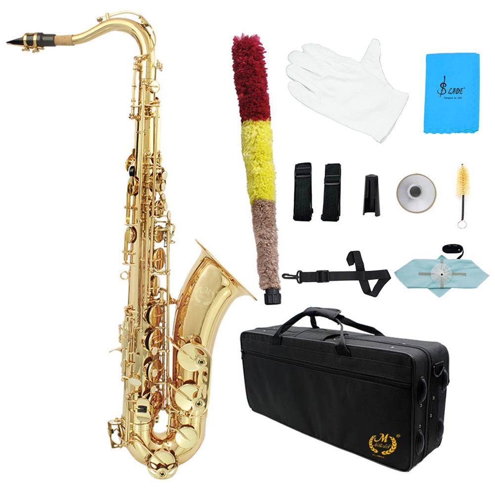 saxophone Mebite Brass Bb 10or Saxophone Sax Carved Pattern Pearl White Shell Buttons Wind instrument with Case Gloves Cleaning Cloth HOB1690392