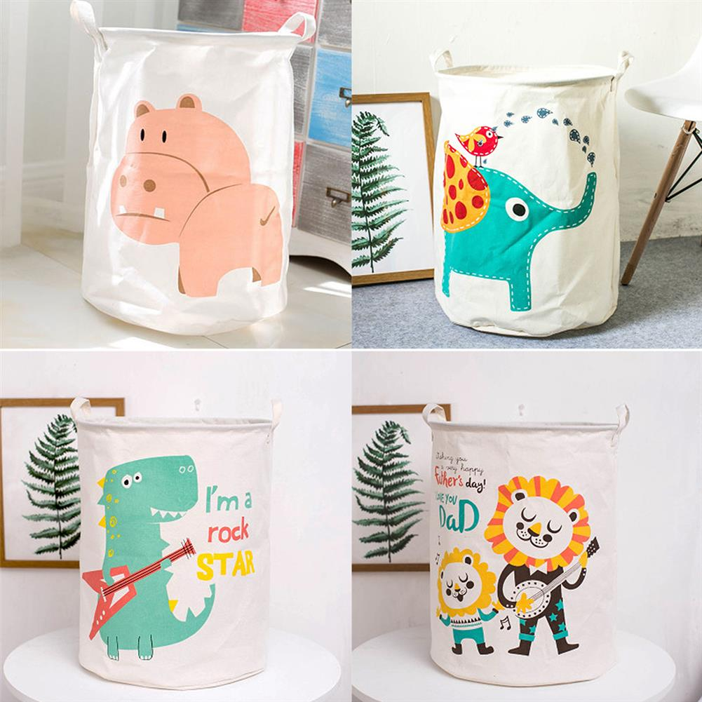 puzzle-game-toys Cartoon Animals Cloth Laundry Basket Storage Bag Laundry Clothes Organizer Pack Toy Artifacts HOB1690768
