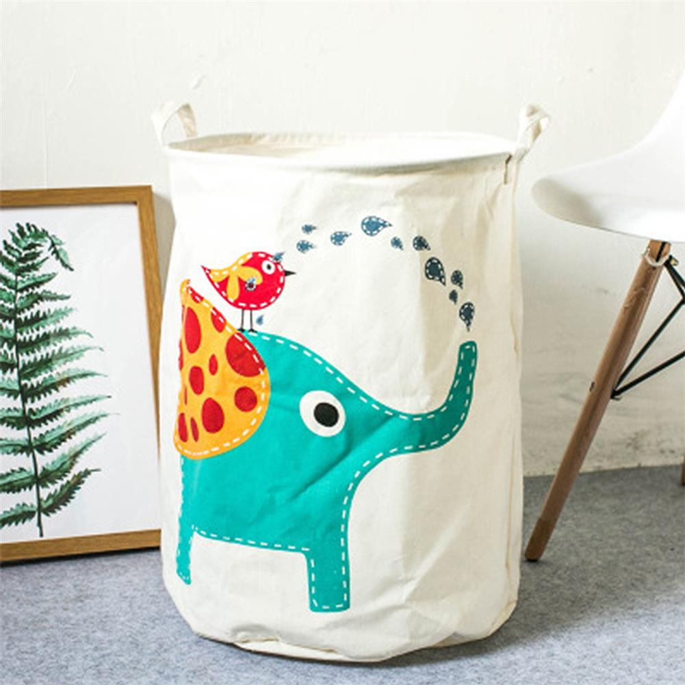 puzzle-game-toys Cartoon Animals Cloth Laundry Basket Storage Bag Laundry Clothes Organizer Pack Toy Artifacts HOB1690768 2