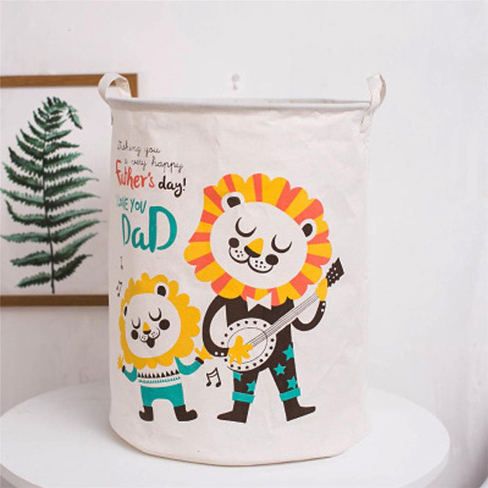puzzle-game-toys Cartoon Animals Cloth Laundry Basket Storage Bag Laundry Clothes Organizer Pack Toy Artifacts HOB1690768 3