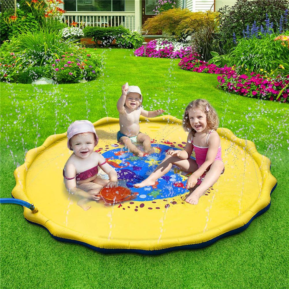 puzzle-game-toys 170cm inflatable Sprinkler Pad Outdoor Sprinkle Splash Water Play Mat Toy Kids HOB1690983 2