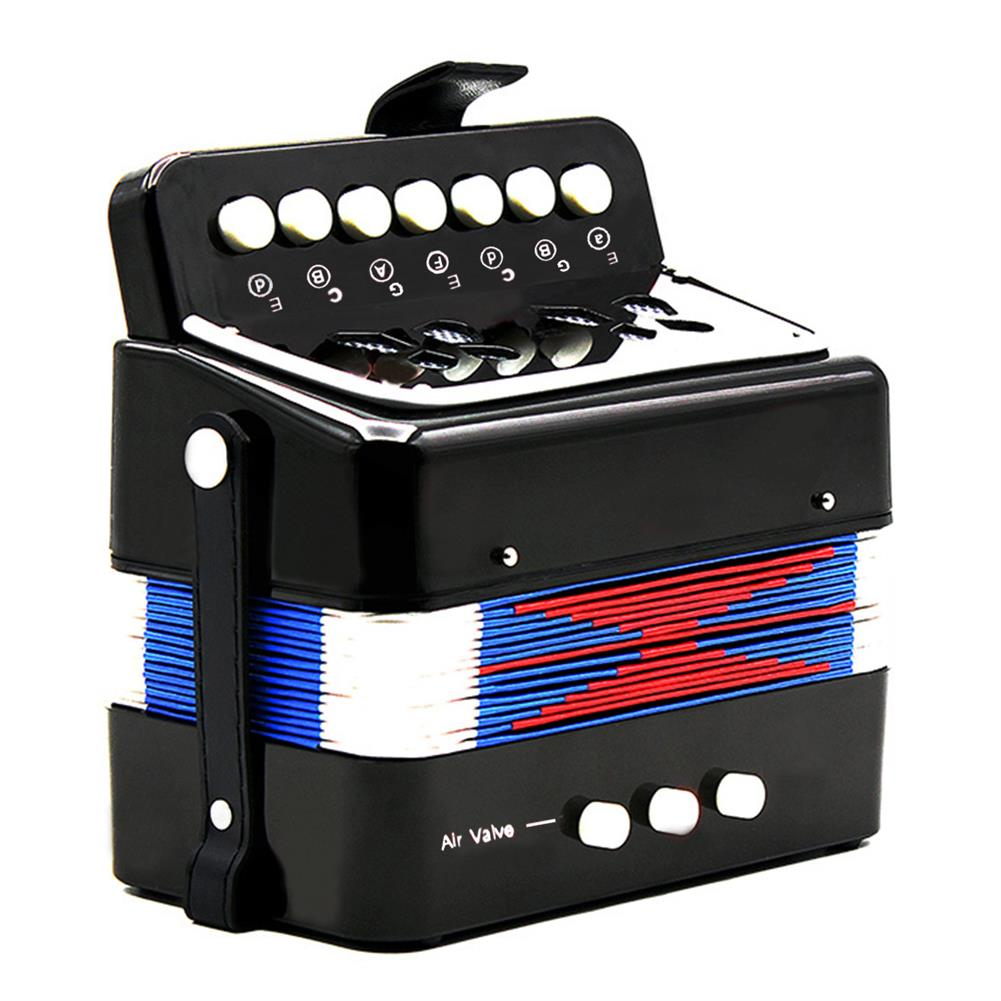 accordion Mini Toy Accordion 7 Keys and 3 Buttons Keyboard Musical instrument for Children Kids Gift HOB1692302