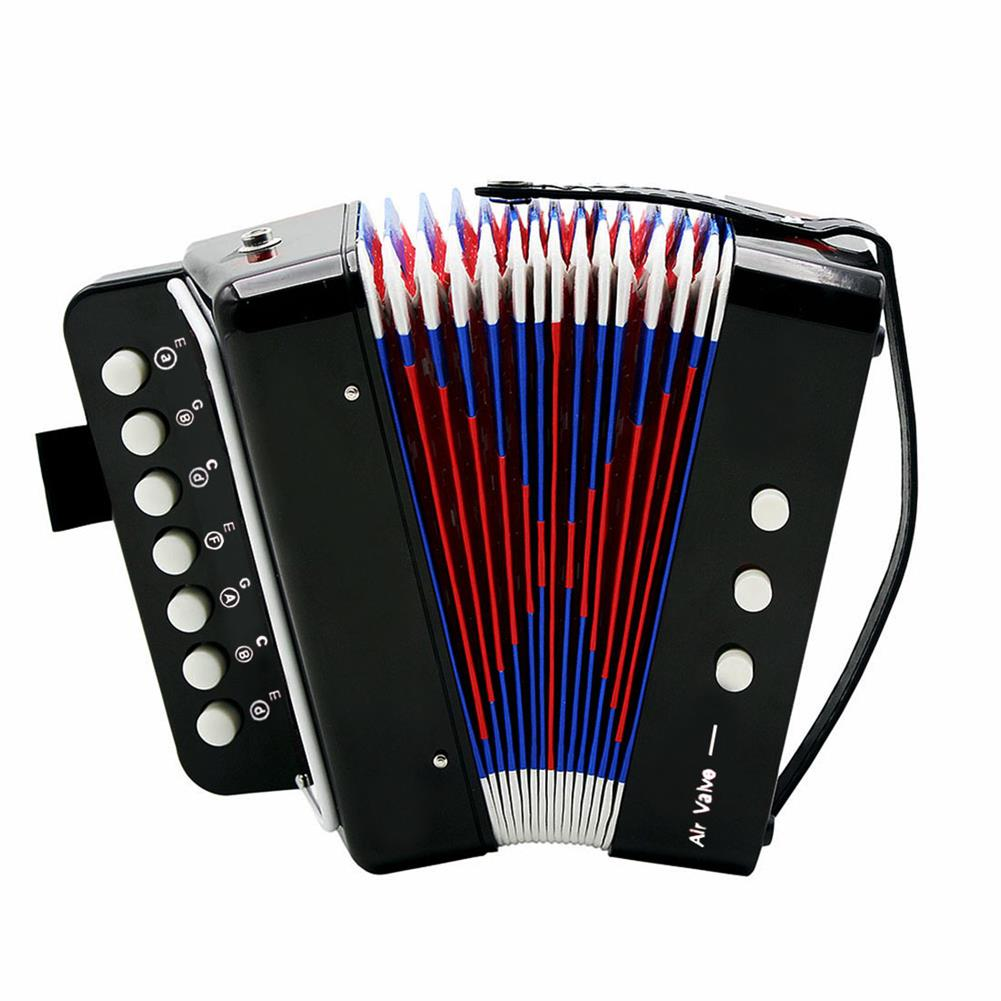accordion Mini Toy Accordion 7 Keys and 3 Buttons Keyboard Musical instrument for Children Kids Gift HOB1692302 1