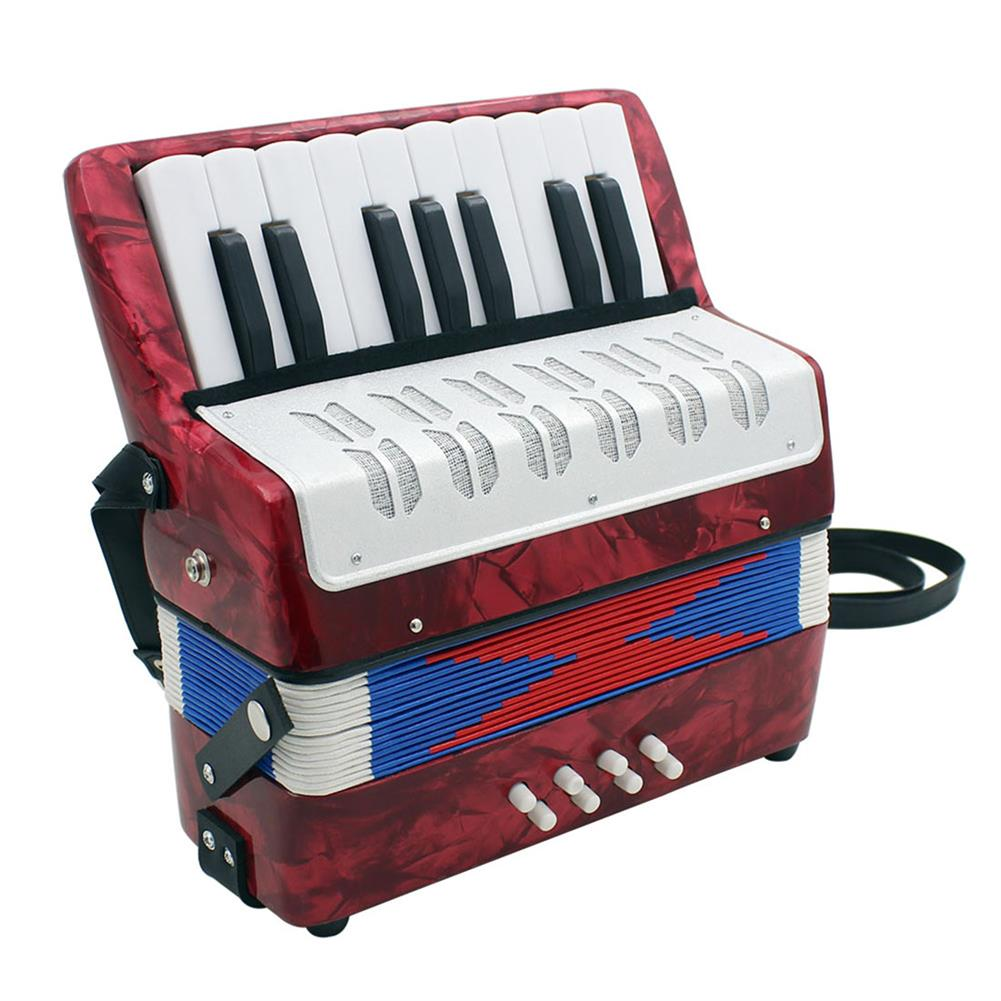 accordion IRIN Professional 17 Key Mini Accordion Educational Musical instrument Toy Cadence Band for Kids Children Adults Gift HOB1692317