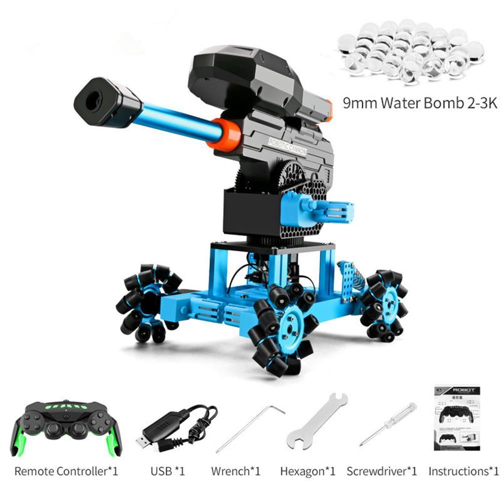 smart-robot-car JJRC K7 2.4G Stunning Drift Universal Wheels Omni-Directional Water B'o'mbs Launch RC Robot Car HOB1695785 2