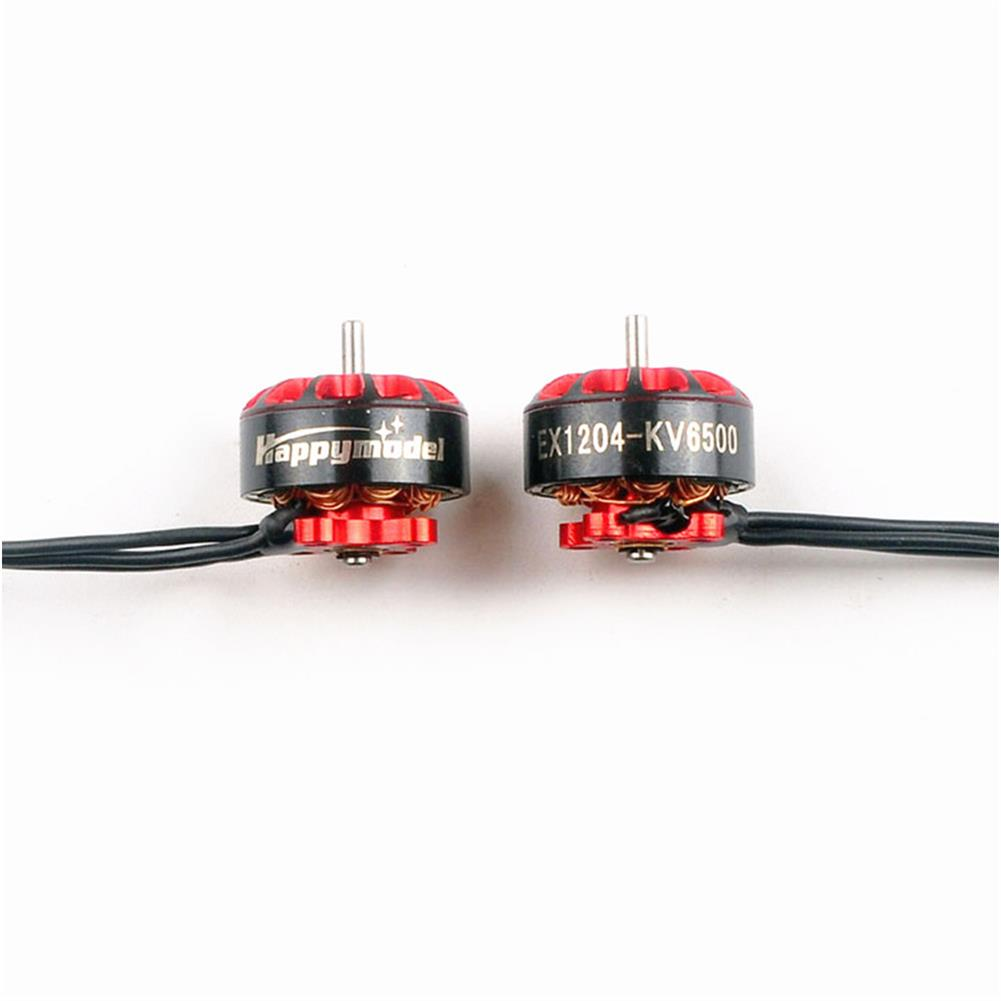 multi-rotor-parts Happymodel EX1204 1204 6500KV 2-3S Brushless Motor 2 CW & 2 CCW w/ 60mm Wire & Connector for 3 inch Micro RC Drone FPV Racing HOB1695818 1