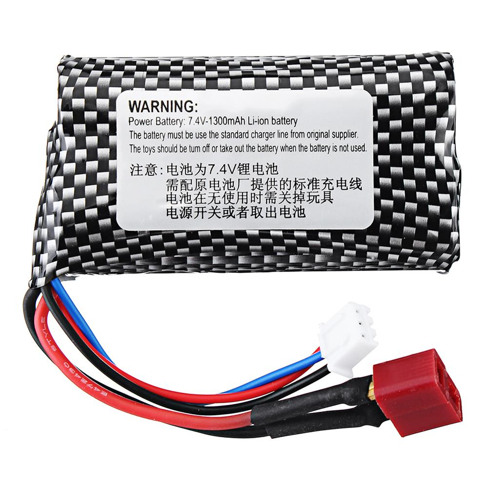 battery-charger-HT 7.4V 1300mAh 2S 15C Li-ion Battery T Plug for C602 C604 C605 1/16 RC Car Vehicles Model-HOB1695855