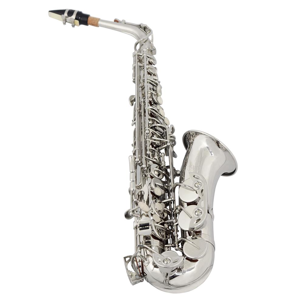 saxophone SLADE E-Flat Eb Alto Saxophone Silver Lacquer with Storage Case Kit HOB1696430 1