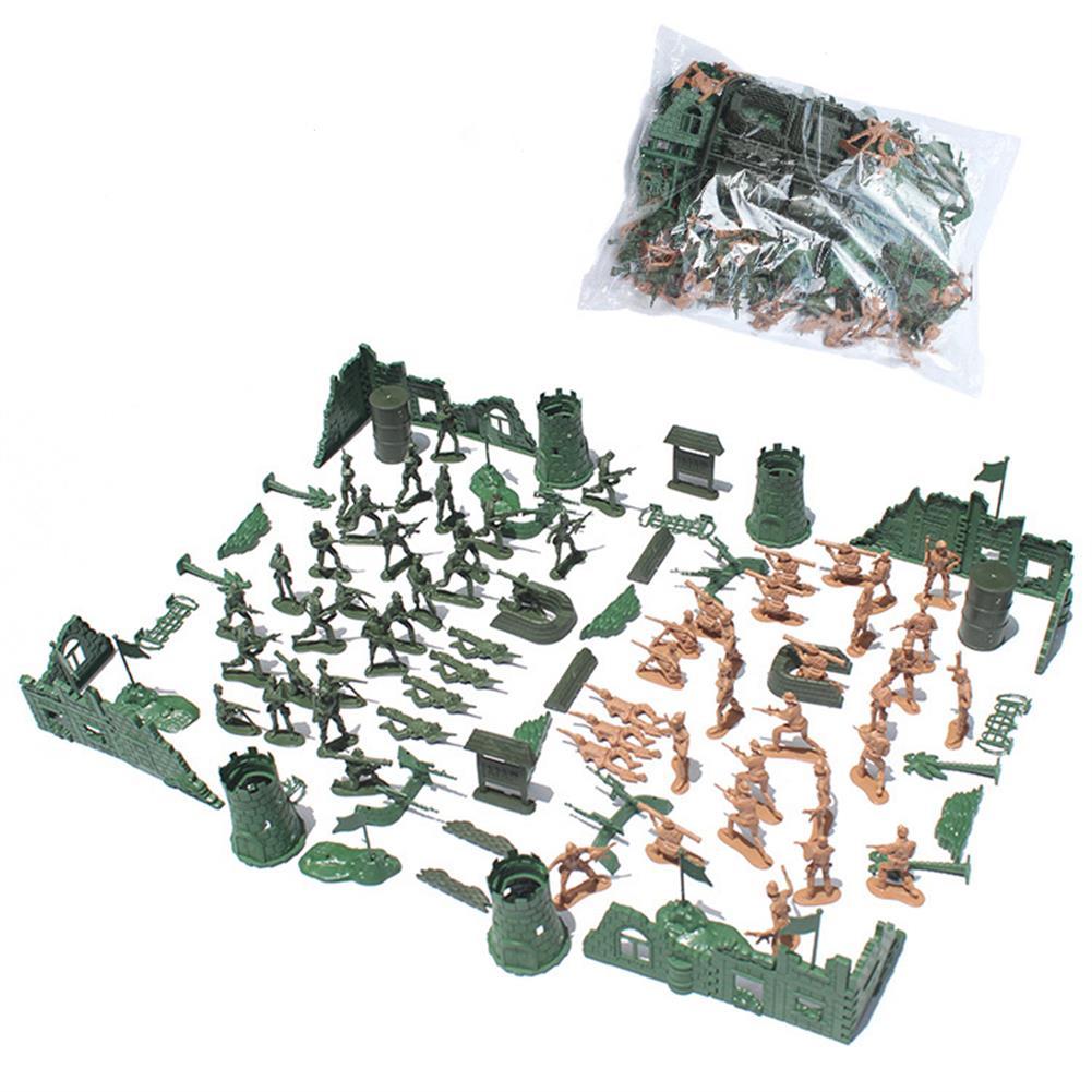 model-building 97/114/127PCS Soldier Army Grenade Tank Aircraft Rocket Sand Scene Kid Model Toys HOB1699821 1