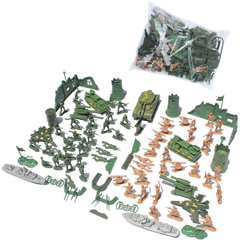 model-building 97/114/127PCS Soldier Army Grenade Tank Aircraft Rocket Sand Scene Kid Model Toys HOB1699821 2