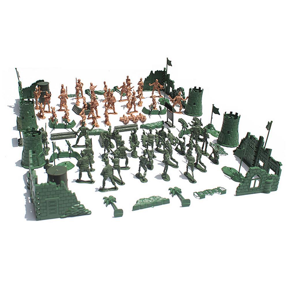 model-building 97/114/127PCS Soldier Army Grenade Tank Aircraft Rocket Sand Scene Kid Model Toys HOB1699821 3