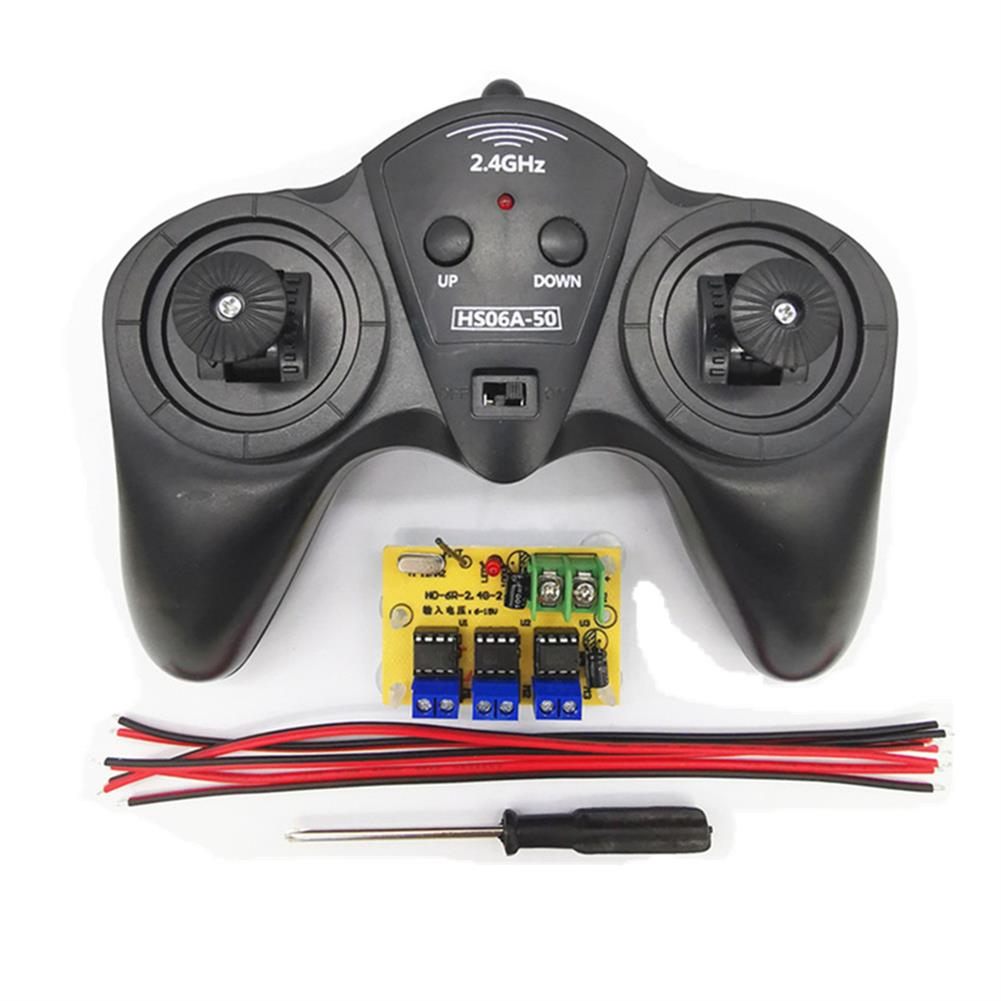 robot-parts-tools Small Hammer 6CH 2.4G 15A Wireless Controller with Receiver for DIY RC Robot Car HOB1700977
