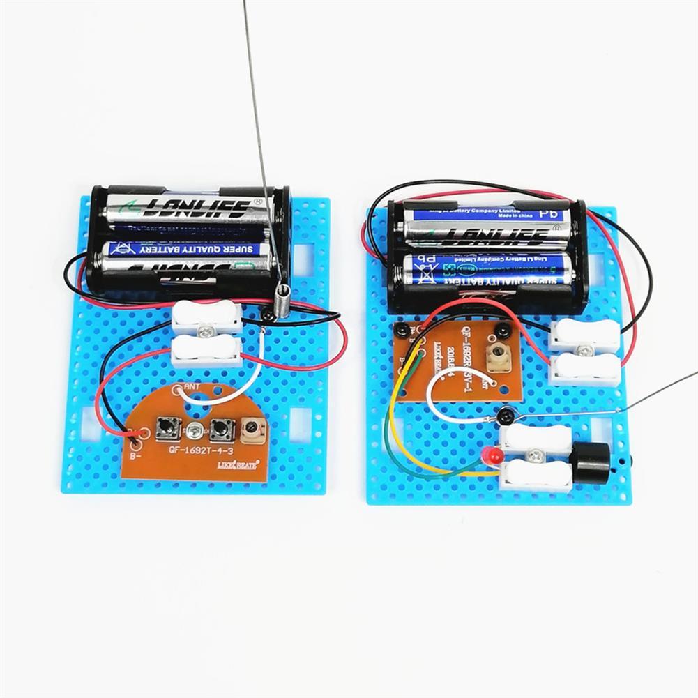 diy-education-robot 2PCS Small Hammer DIY Toy Model Wireless Telegraph Transmitter Receiver Module Educational Kit HOB1701171