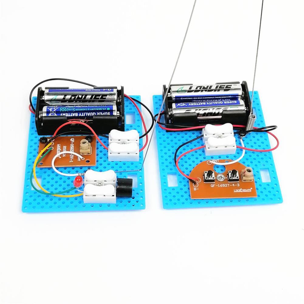 diy-education-robot 2PCS Small Hammer DIY Toy Model Wireless Telegraph Transmitter Receiver Module Educational Kit HOB1701171 1