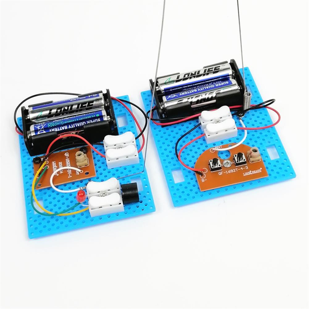diy-education-robot 2PCS Small Hammer DIY Toy Model Wireless Telegraph Transmitter Receiver Module Educational Kit HOB1701171 2