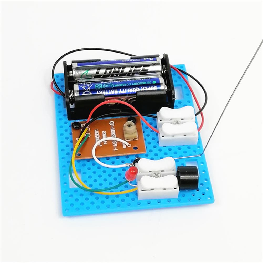 diy-education-robot 2PCS Small Hammer DIY Toy Model Wireless Telegraph Transmitter Receiver Module Educational Kit HOB1701171 3